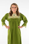 Chiapas Mexican Dress - Green