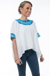 Evelyn Guatemalan Blouse - Turquoise