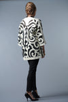 Felted Wool Coat - Ivory and Black