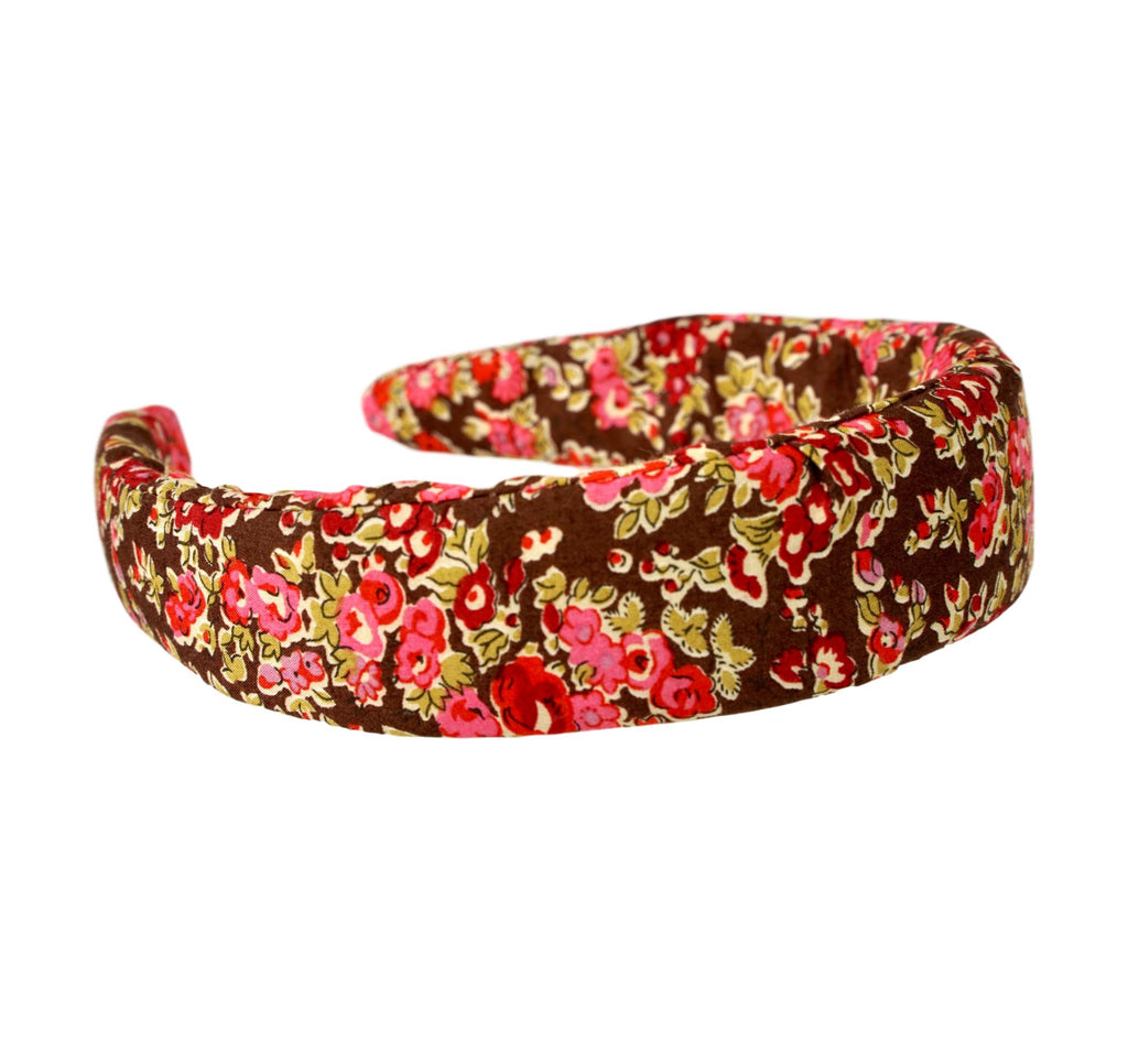 Liberty of London Headband - Brown, Pink, Red