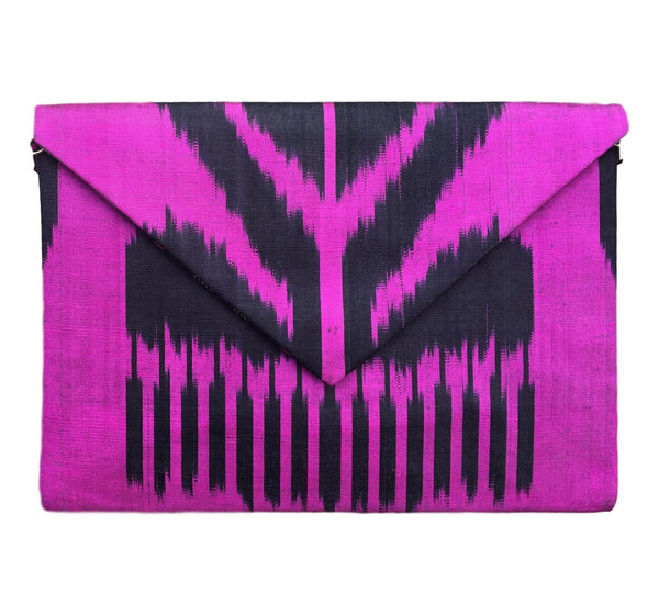 """Endymion"" Silk Ikat Envelope Clutch"
