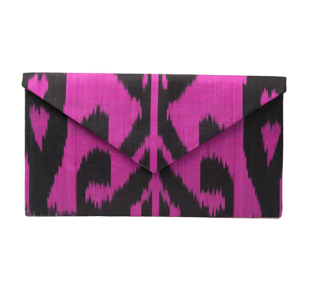 """Endymion"" Silk Ikat Envelope Clutch, Large"