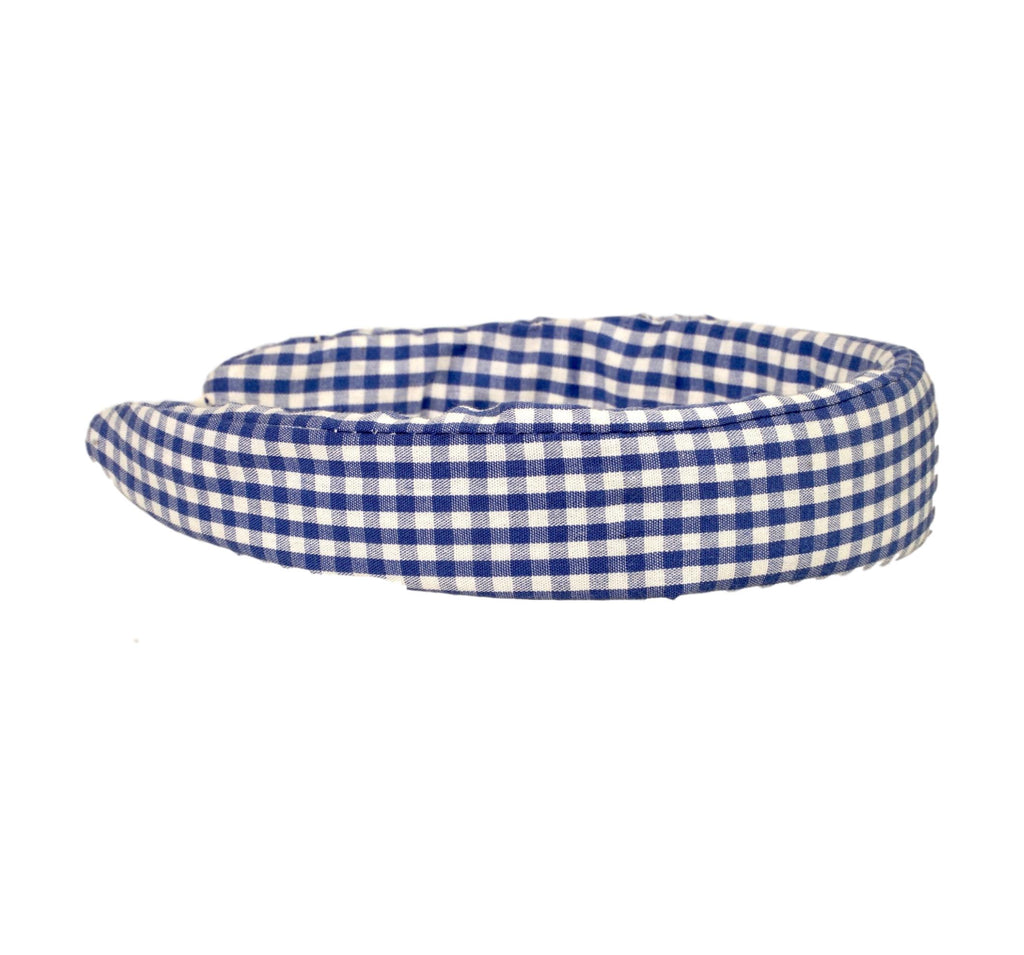 Headband - Blue and White Gingham