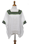 Beatriz Guatemalan Blouse - Green