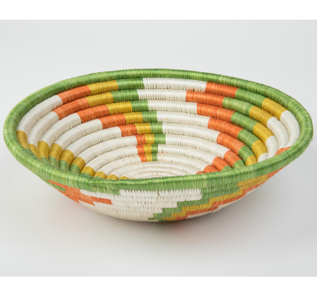Joy Basket in Green, Yellow, Orange and White