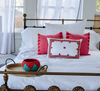 Cerros Mexican Pillow, Pink and Red