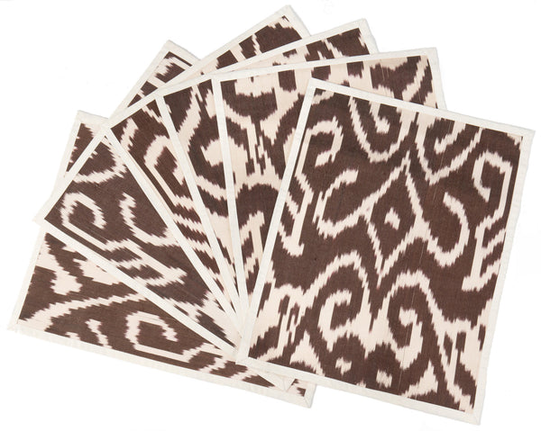 """Arles"" Silk-Linen Ikat Placemats, set of 4"