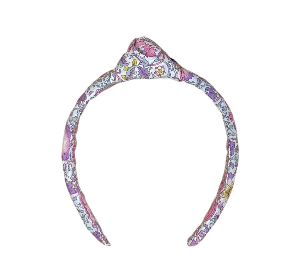 Liberty of London Headband - Lavender, Pink, Grey, Yellow