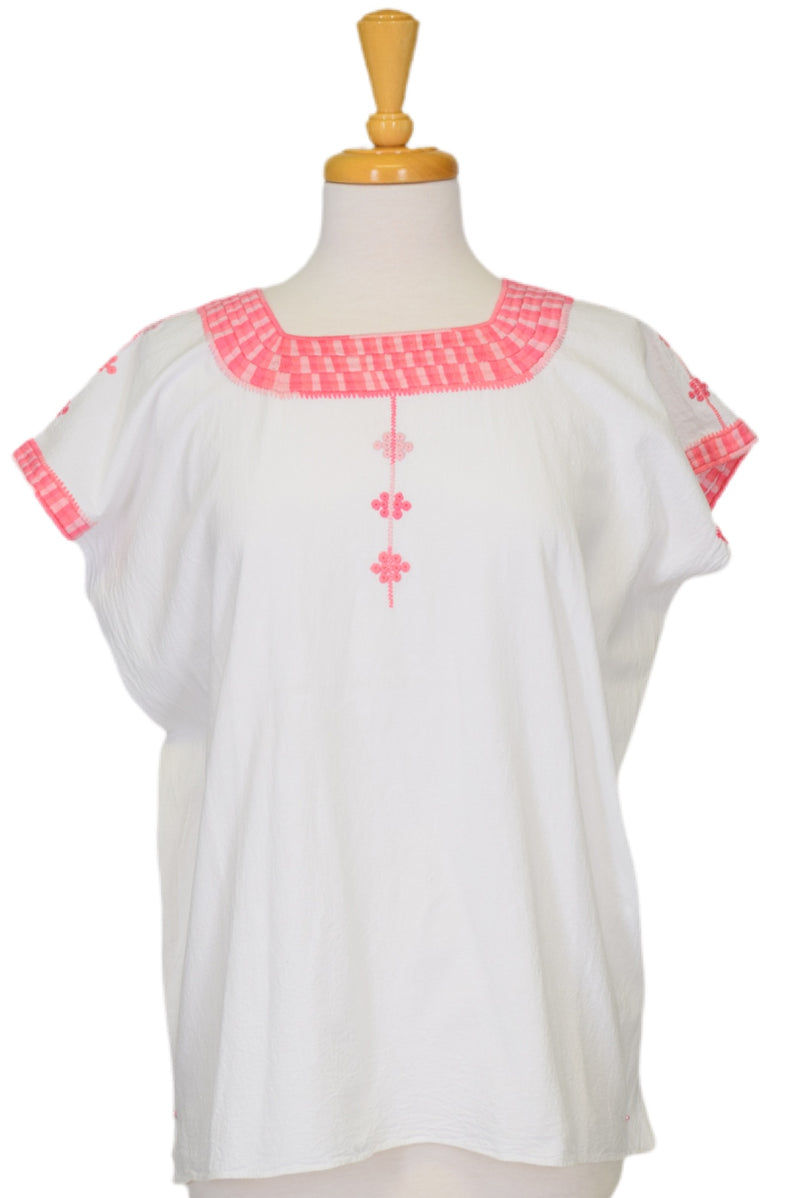 Santa Marta Mexican Cotton Blouse - Pink