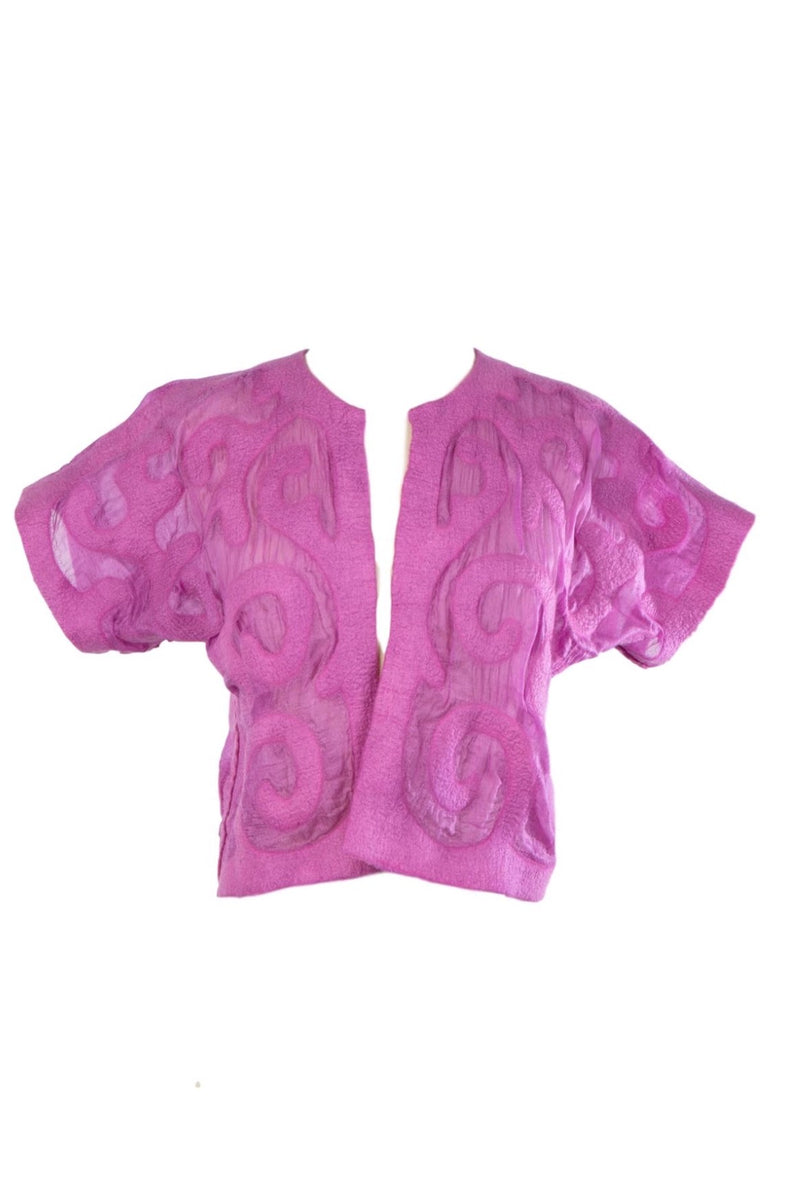 Felted Wool Shrug- Wild Berry / Magenta