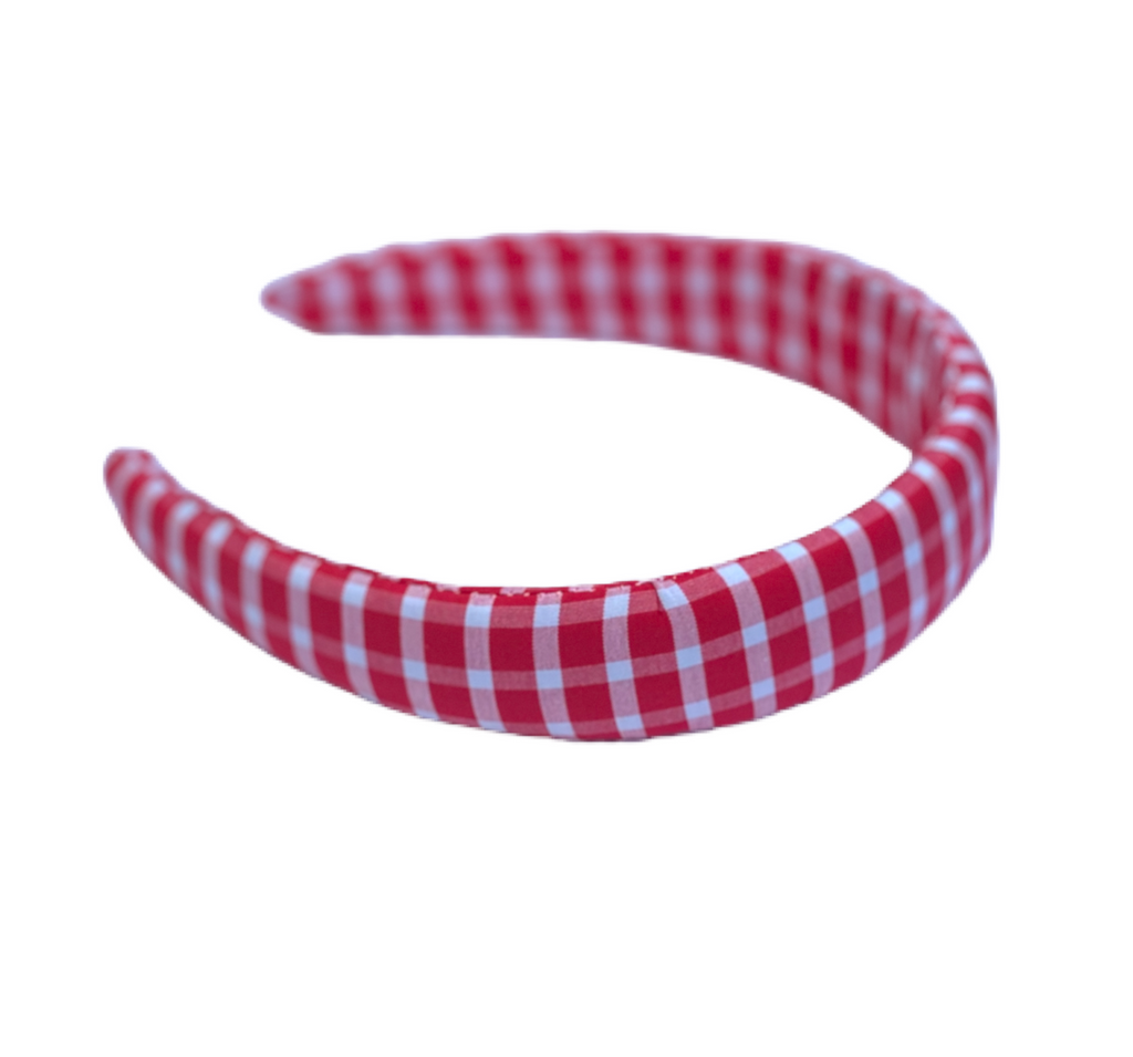 Headband - Red and White Gingham