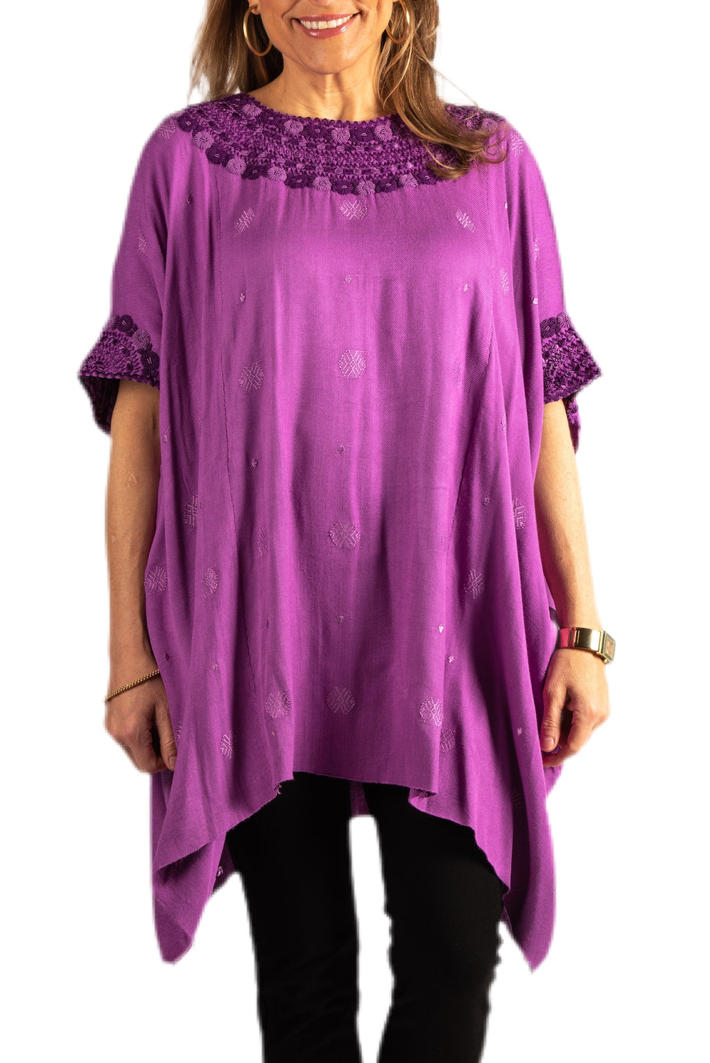 Clara Guatemalan Tunic- Purple