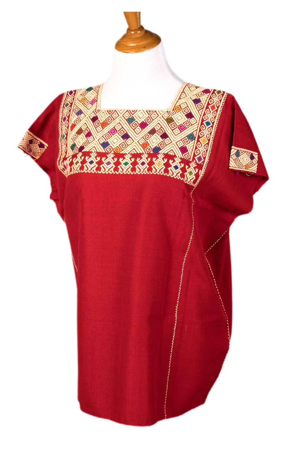 San Andres Mexican Blouse - Red