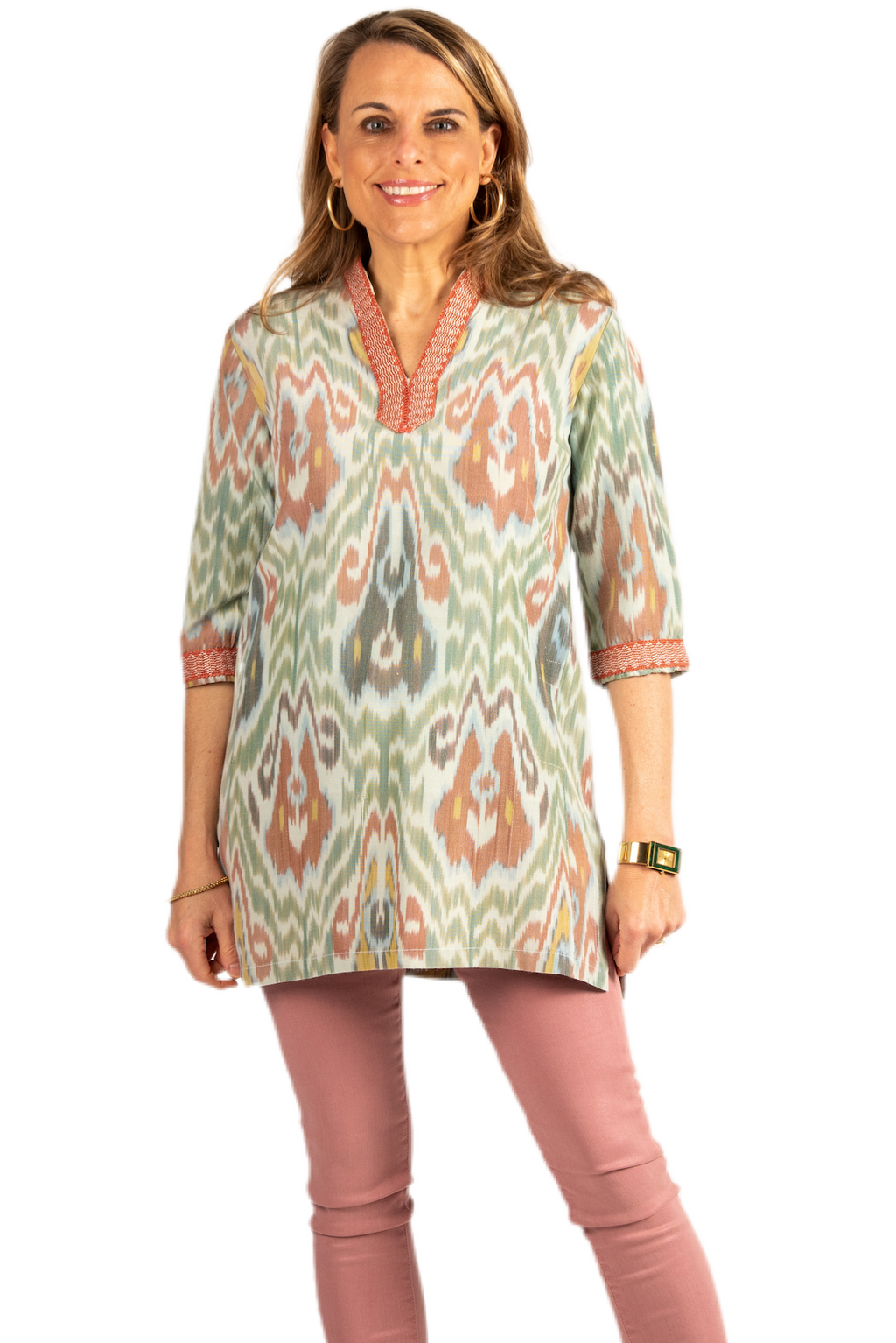 Giverny Silk Ikat Tunic