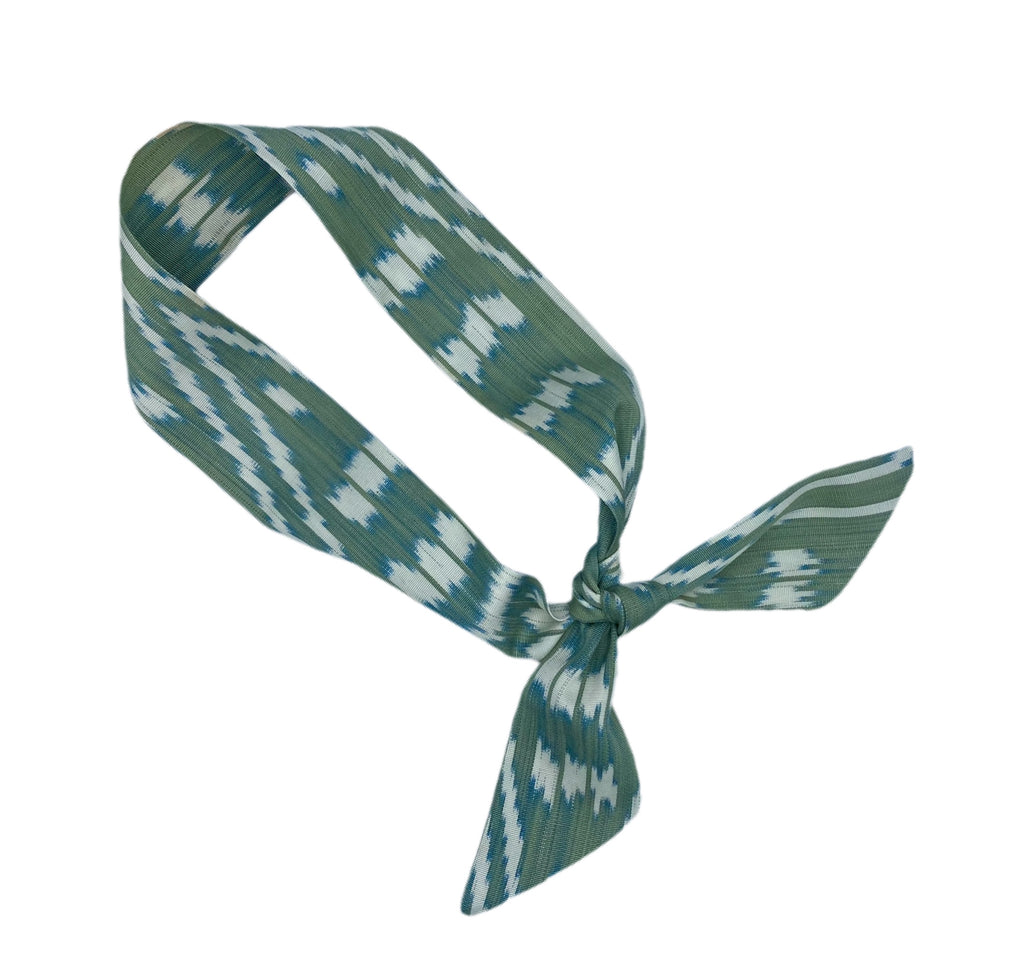 NEW! Silk Ikat Hair Tie -Julia Pattern