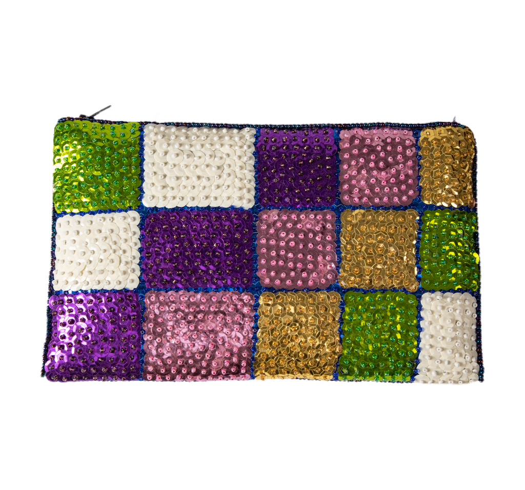 VéVé Beaded Clutch- Purple, Green, Lavender, White
