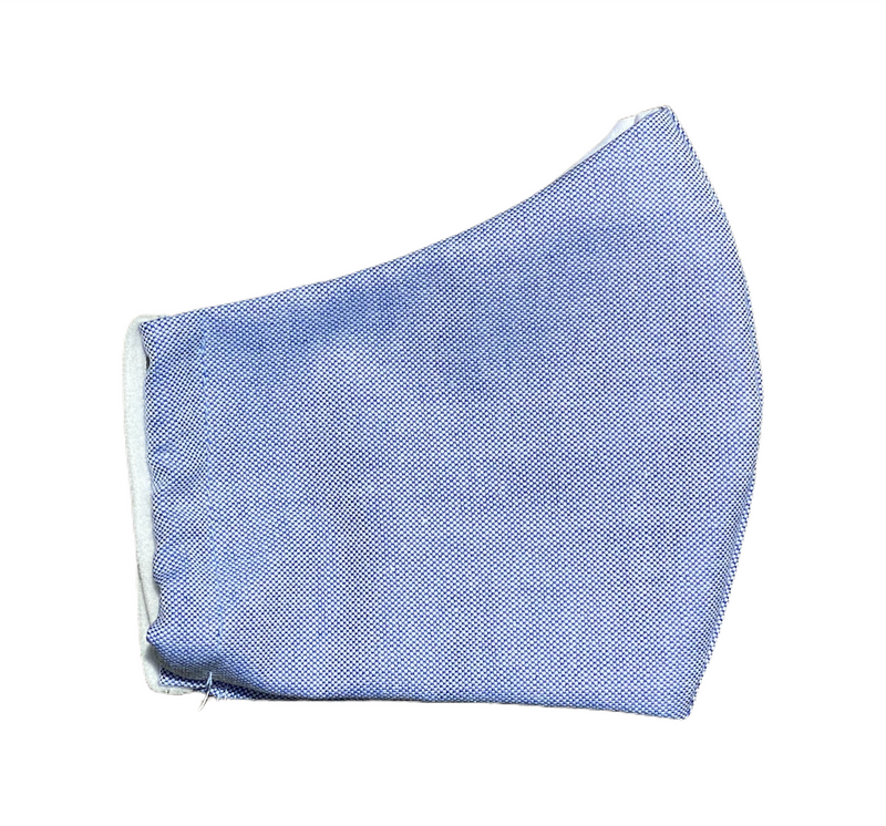 Oxford Cloth Face Mask - Blue