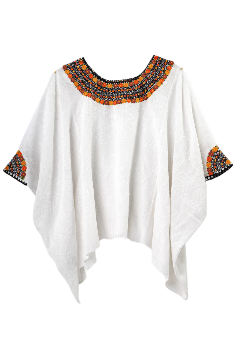 Evelyn Guatemalan Blouse - Yellow and Orange