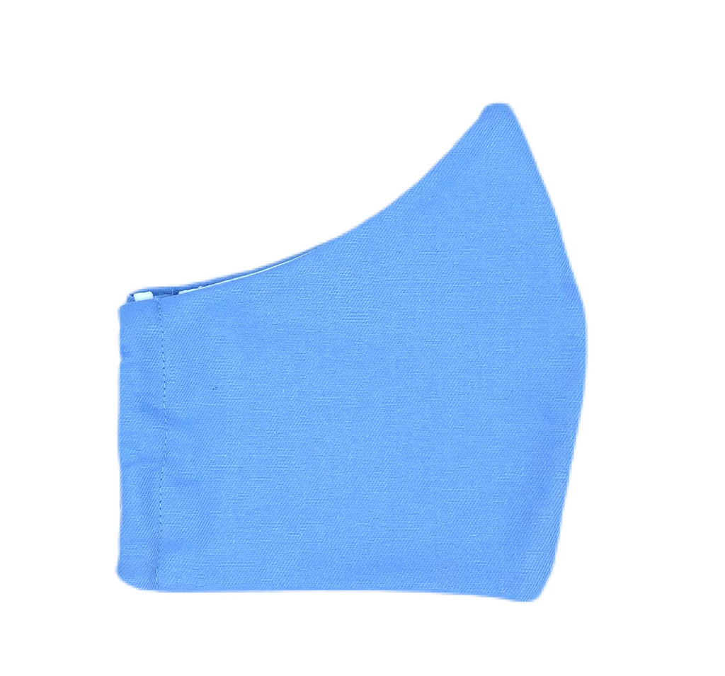 Fabric Face Mask - Light Blue - Twill