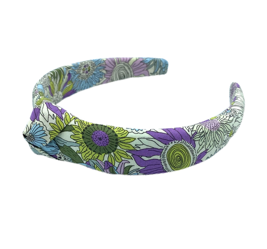 Liberty of London Knotted Headband - Purple, Green, Light Blue
