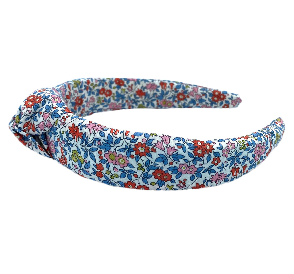 Liberty of London Knotted Headband - Red, Pink, Blue