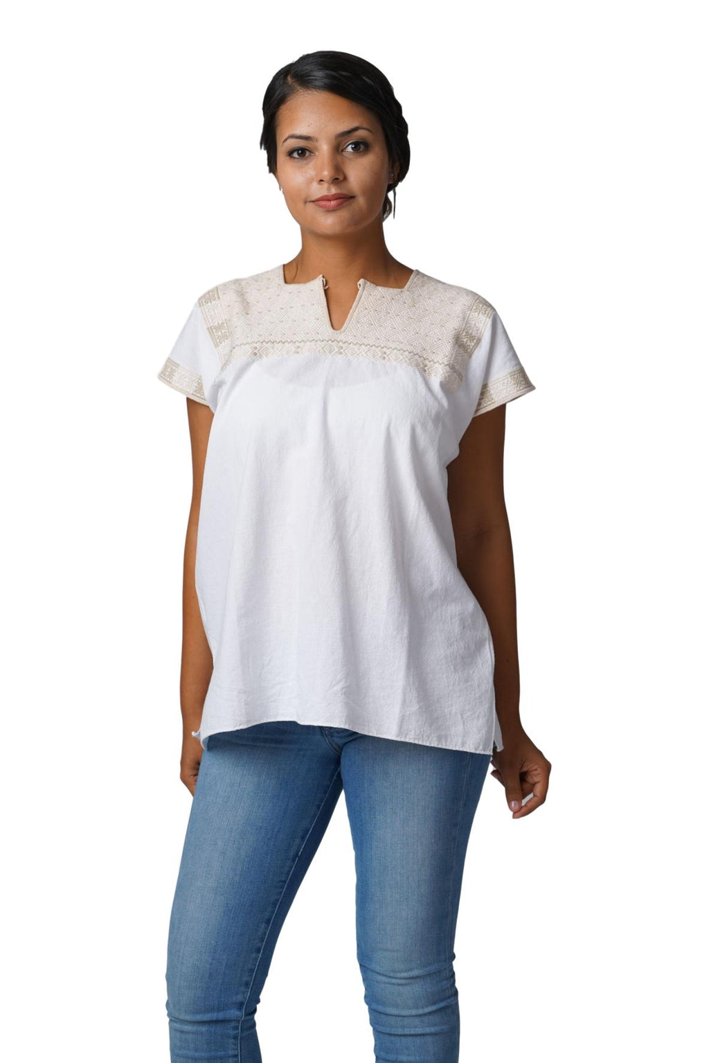 Soledad Mexican Blouse - Ivory