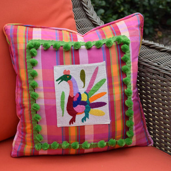 """Merida"" Otomi Textile Pillow"