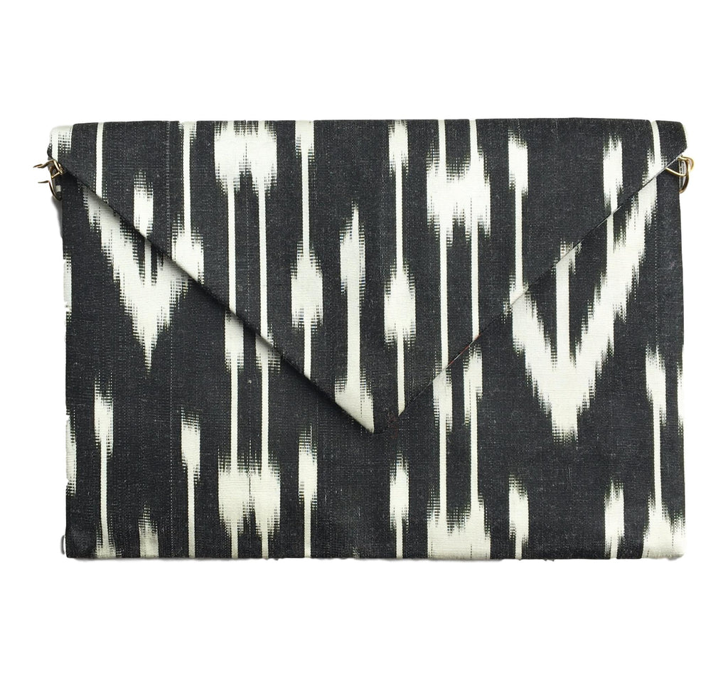 """La Reine"" Silk Ikat Envelope Clutch, Large"