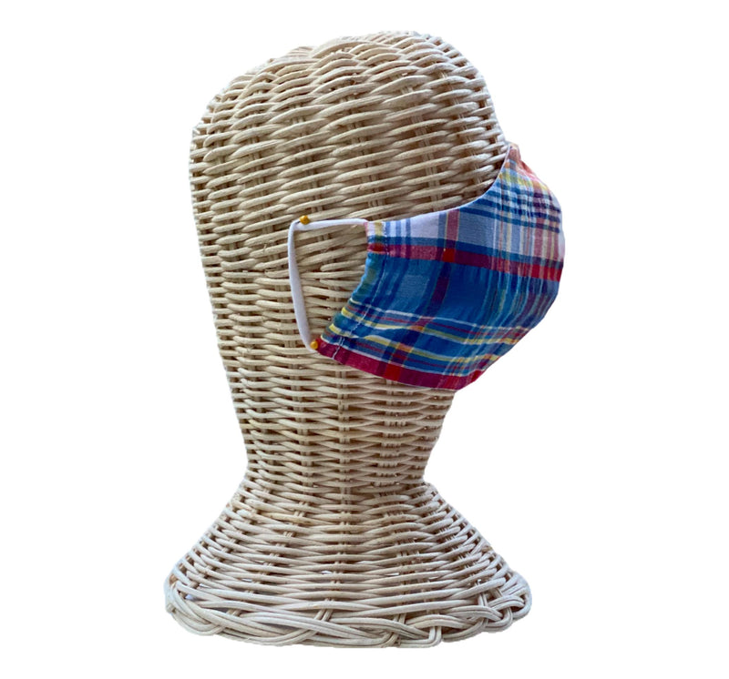 Fabric Face Mask- Madras