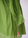 Girasole Mexican Blouse- Green and Pink