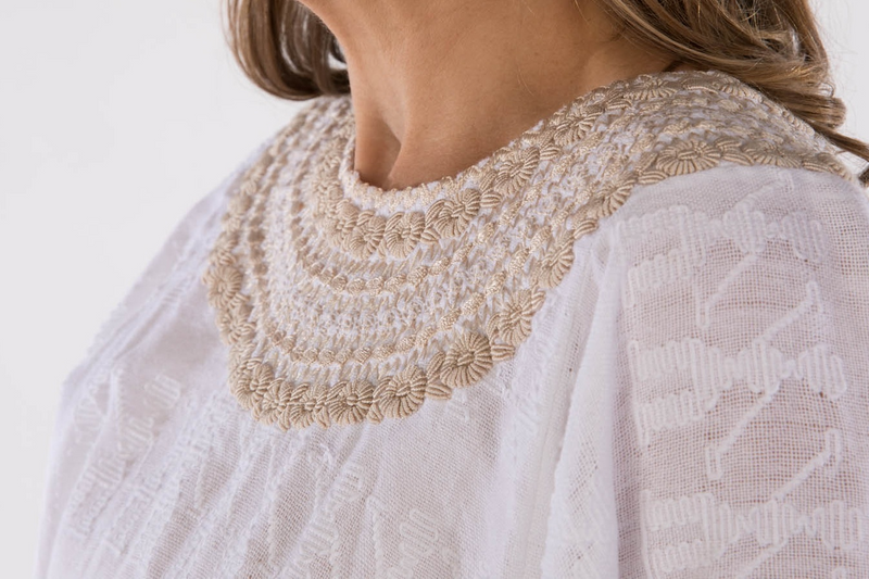 Leonore Guatemalan Blouse - Neutral