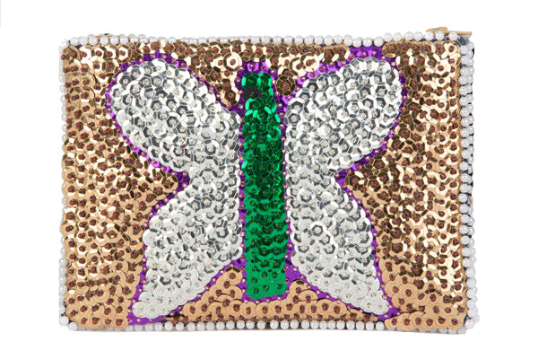 """Papillon"" Beaded Evening Purse"