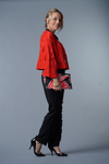 Felted Wool Bolero Jacket - Red