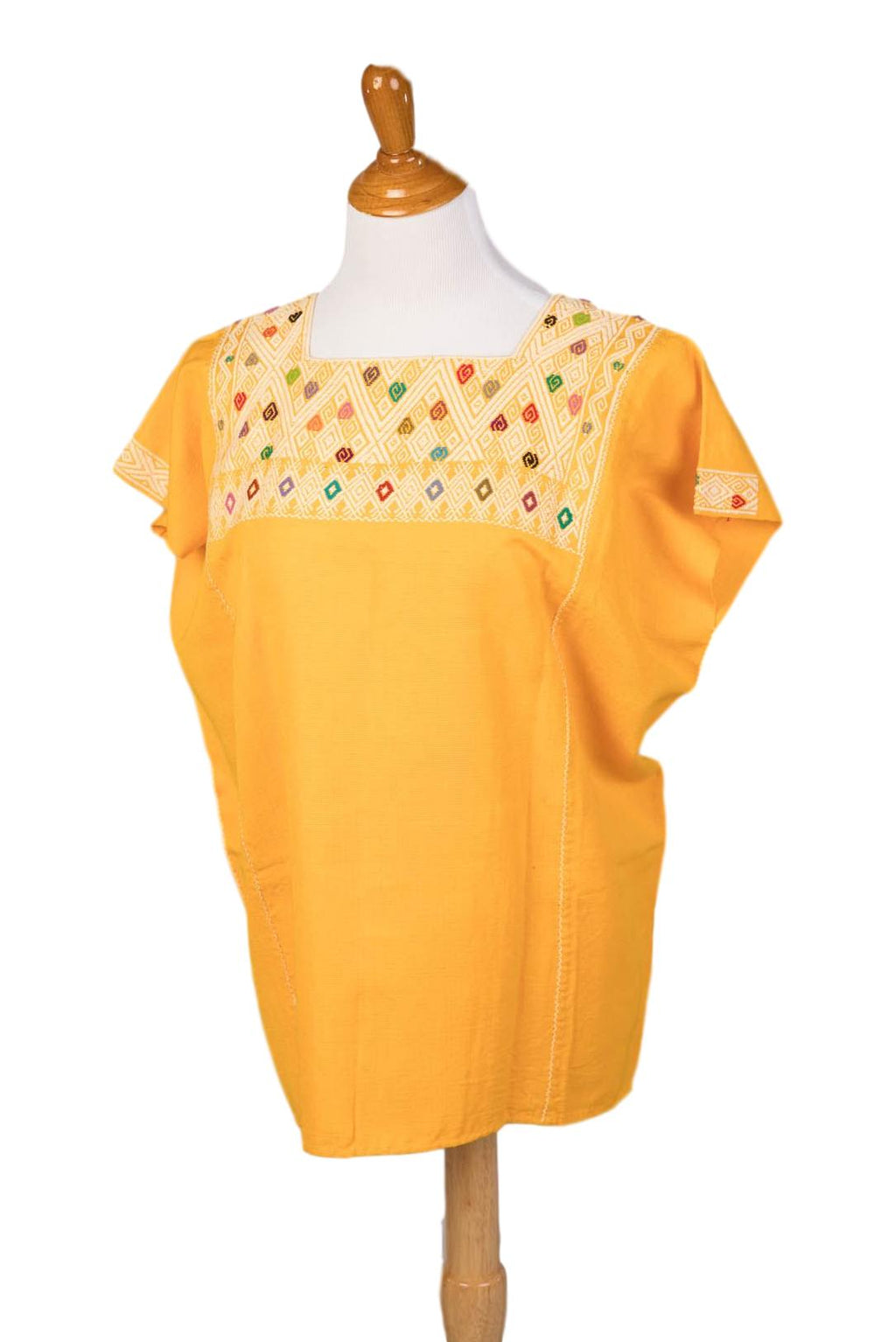 San Andres Mexican Blouse - Yellow