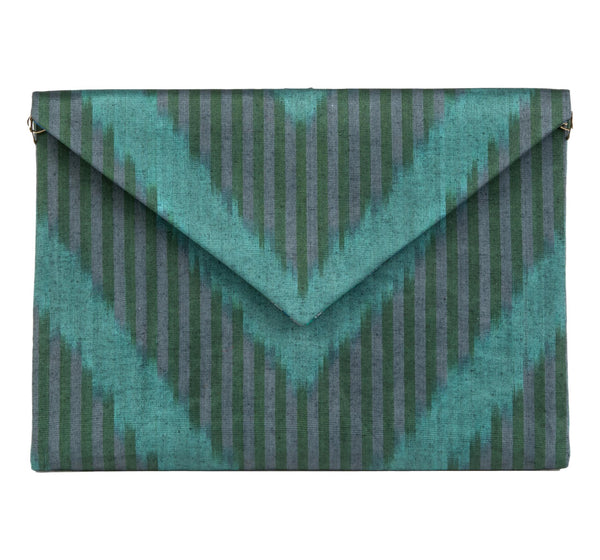 """Sussex"" Silk Ikat Envelope Clutch, Small"