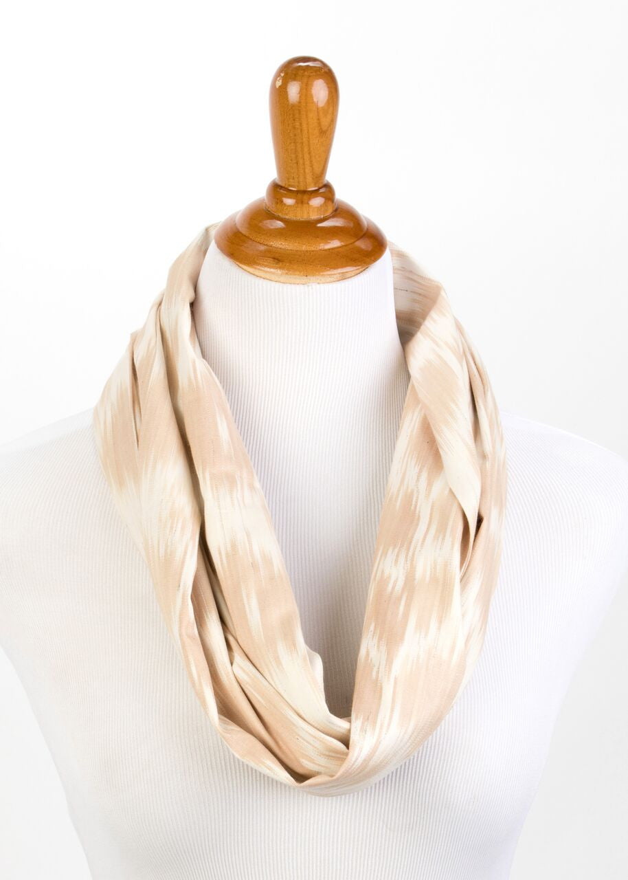 Rhone Cotton Ikat Infinity Scarf