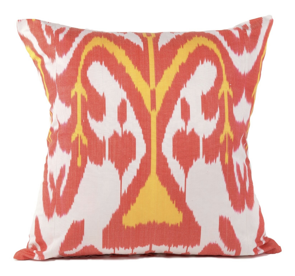 """Rousillon"" Silk Ikat Pillow"