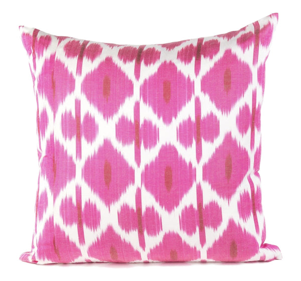"""Montpellier"" Silk Ikat Pillow"