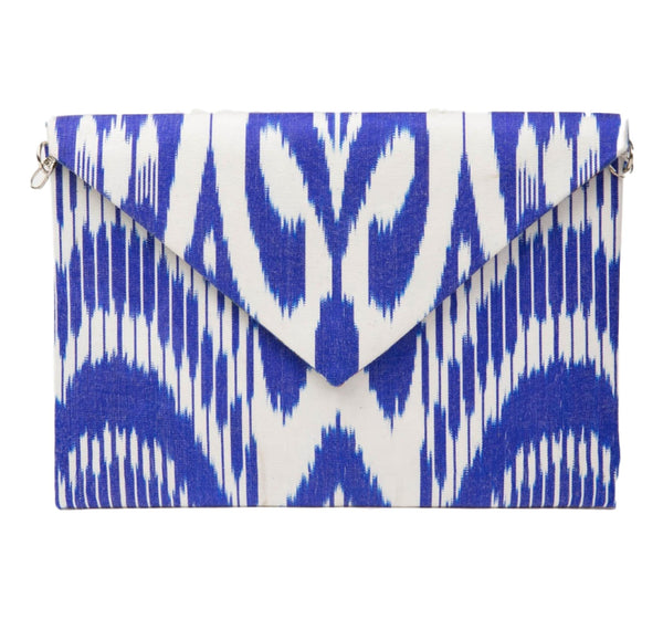 """Wheaton"" Silk Ikat Envelope Clutch"