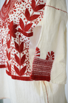 San Lorenzo Mexican Blouse - Cream and Red
