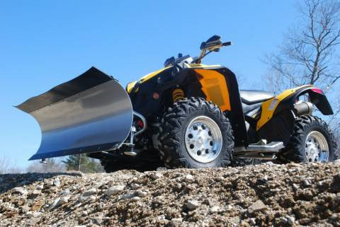 ATV Complete Plow Kit w/ 3500 lb Winch and Steel Straight Blade