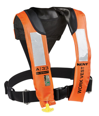 Kent A-33 In Sight Automatic Inflatable Work Vest
