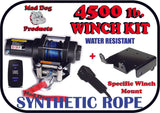 Mad Dog 4500 lb. Synthetic Rope ATV/UTV Winch w/ Winch Mount Plate