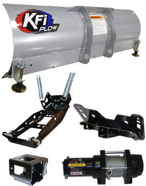 UTV Complete Plow Kit w/ 2500 lb Winch and Steel Straight Blade