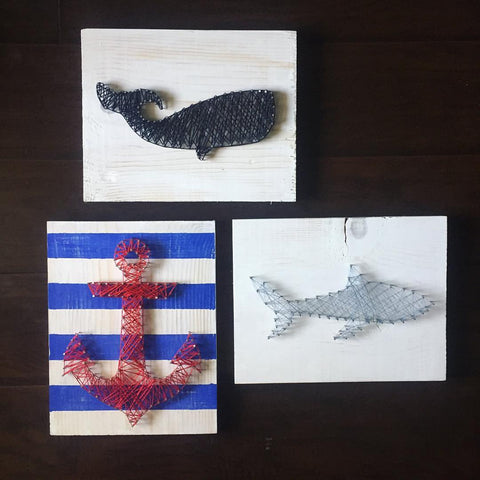 Shark Week! String Art Class