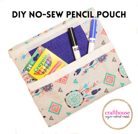 DIY No Sew Pencil Pouch
