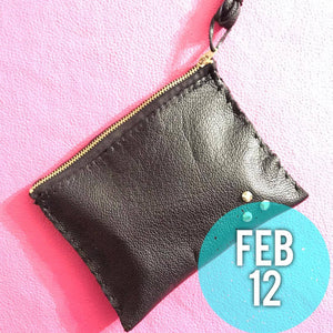 Feb 12 Galentine's Day Leather Clutch Workshop
