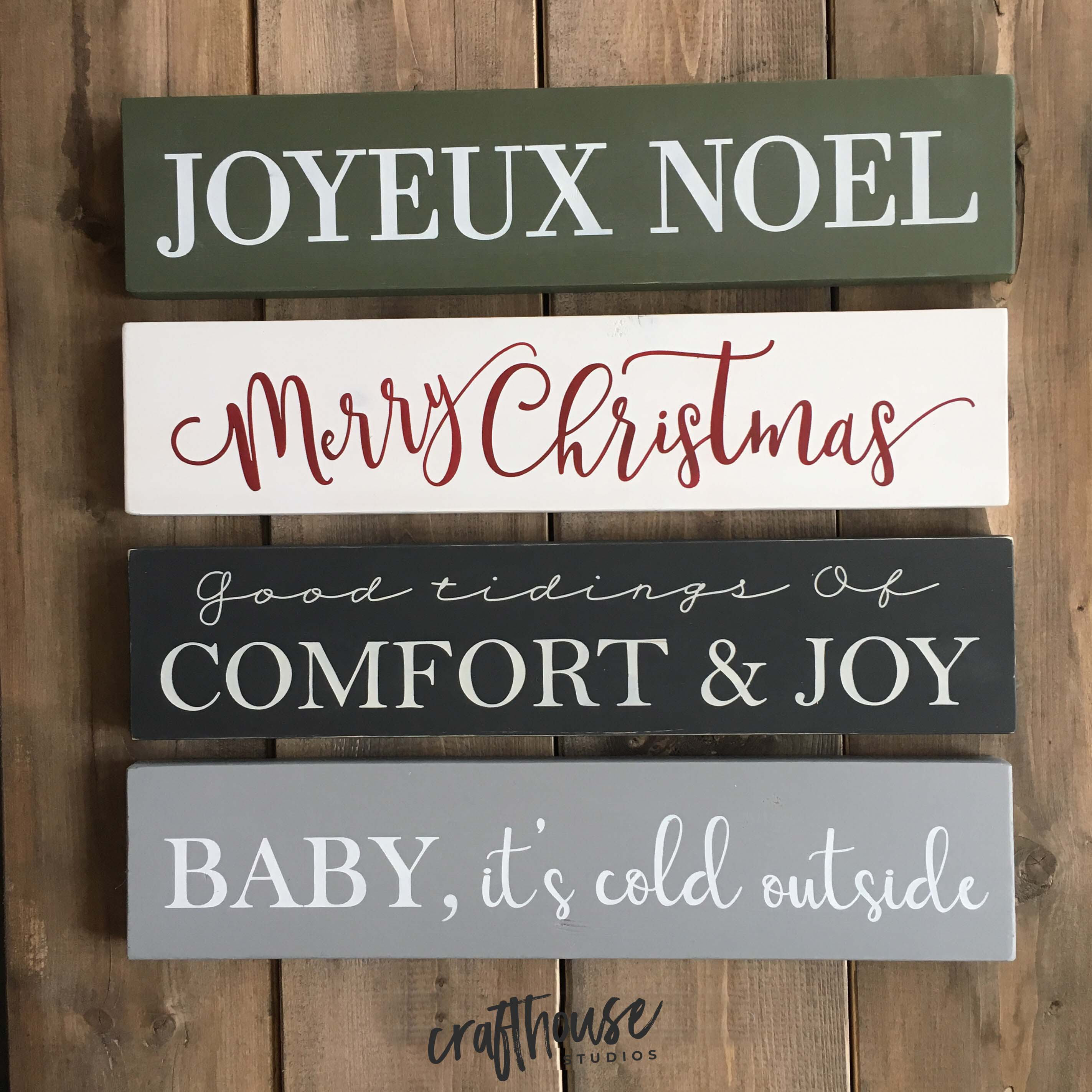 Holiday Sign Trio
