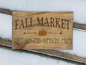 Fall market wood sign