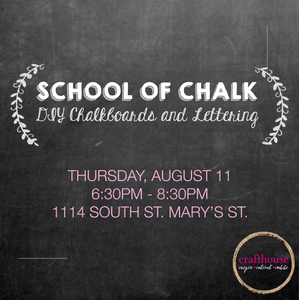 School of Chalk: DIY Chalkboard and Intro to Lettering